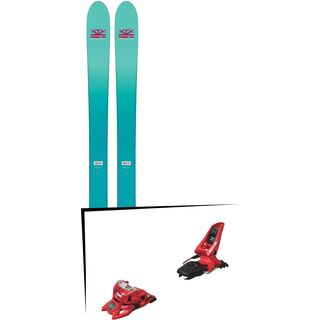 Set: DPS Skis Nina F99 Foundation 2018 + Marker Squire 11 ID red