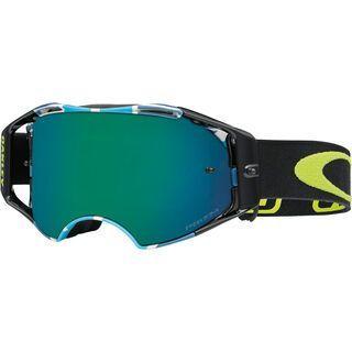 Oakley Airbrake MX Prizm, speed stripe/Lens: jade - MX Brille