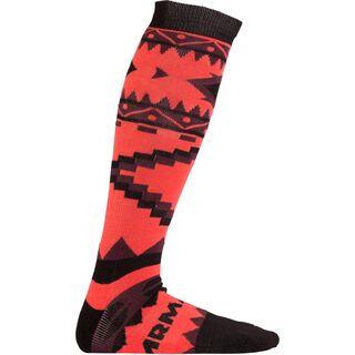Armada Double Diamond Merino Sock, coral - Socken