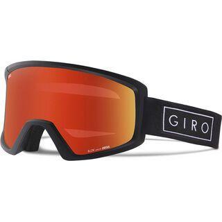 Giro Blok, black bar/Lens: amber scarlet - Skibrille