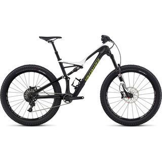 Specialized Stumpjumper FSR Expert Carbon 6Fattie 2017, white/carbon/hy green - Mountainbike