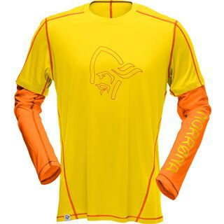Norrona /29 tech long sleeve Shirt (M), mellow yellow - Radtrikot