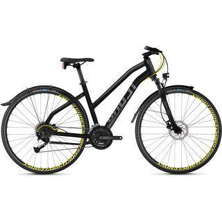 Ghost Square Cross X 3.8 W AL 2018, black/gray/neon yellow - Fitnessbike