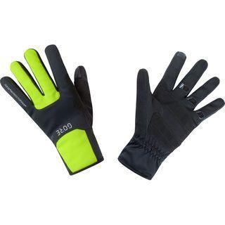 Gore Wear M Gore Windstopper Thermo Handschuhe, black/neon yellow - Fahrradhandschuhe