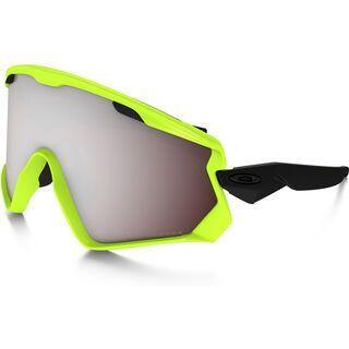 Oakley Wind Jacket 2.0 Prizm, neon retina/Lens: prizm black iridium - Skibrille