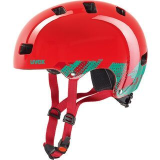 uvex Kid 3, blackout red - Fahrradhelm