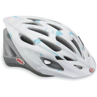 Bell Vela, white/silver swirls - Fahrradhelm