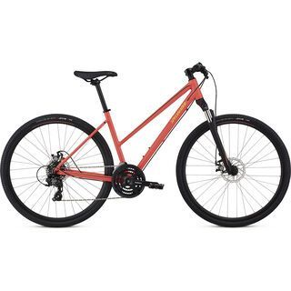 Specialized Ariel Mechanical Disc Step-Through 2018, red/limon/black - Fitnessbike
