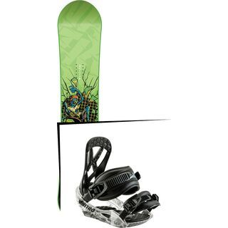 Set: Nitro Ripper Youth 2017 + Nitro Ripper 2017, black - Snowboardset