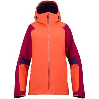 Burton [ak] Womens Blade Jacket, Tiger Lily/Syrah/Storm Colorblock - Snowboardjacke