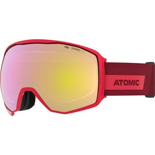 Atomic Count 360° Stereo, red/Lens: pink/yellow - Skibrille
