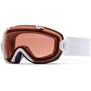 Smith I/Os + Spare Lens, white gbf/polarized rose - Skibrille