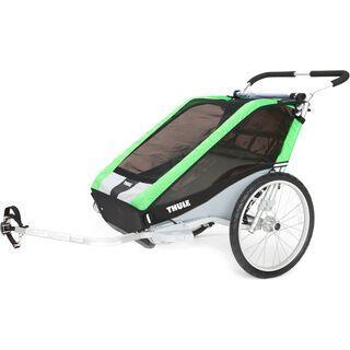 Thule Chariot Cheetah 2 inkl. Fahrrad-Set, grün - Fahrradanhänger