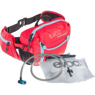 Evoc Hip Pack Race 3l + Hydration Bladder 1,5l, red neon blue - Hüfttasche