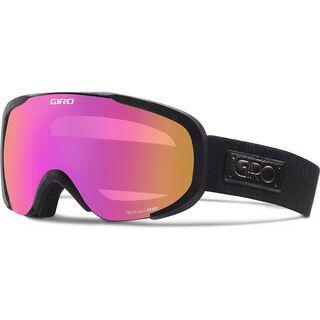 Giro Field, black deco/Lens: amber pink - Skibrille
