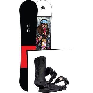 Set: Ride Crook Wide 2017 + Ride Rodeo 2016, matte black - Snowboardset