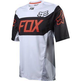 Fox Demo SS Jersey, devise white - Radtrikot