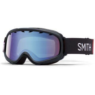 Smith Gambler Air, black angry birds/blue sensor mirror - Skibrille