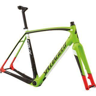 Specialized CruX Pro Frameset 2016, green/red/black