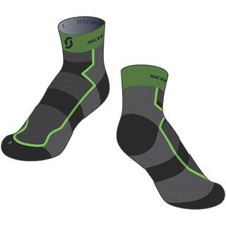 Scott RC Light Socken, black/green - Radsocken