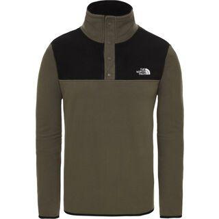 The North Face Men's Tka Glacier Snap-Neck Pullover, new taupe green/tnf black - Fleecepullover