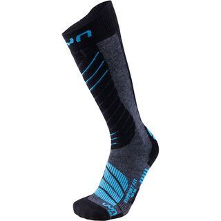 UYN Comfort Fit Ski Socks medium grey melange/azure