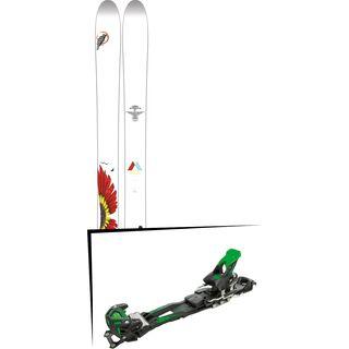 Set: Line Mordecai 2017 + Tyrolia Adrenalin 16 ohne Bremse, solid black flash green - Skiset
