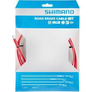 Shimano Bremszug-Set Road Sil-Tec beschichtet, rot