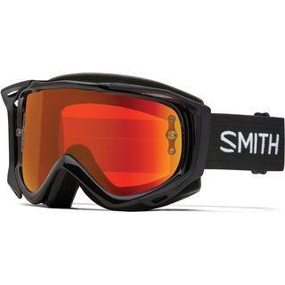 Smith Fuel V.2 inkl. WS, black/Lens: red mir - MX Brille