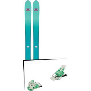 Set: DPS Skis Nina F99 Foundation 2018 + Tyrolia Attack 12 solid white mint