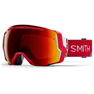 Smith I/O 7 inkl. Wechselscheibe, fire split/Lens: sun red mirror chromapop - Skibrille