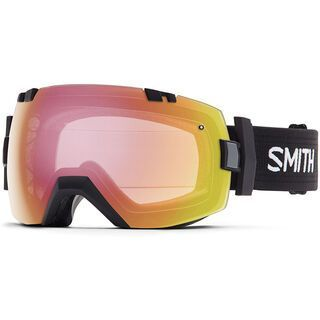 Smith I/Ox photochromatisch inkl. Wechselscheibe, black/red sensor mirror - Skibrille