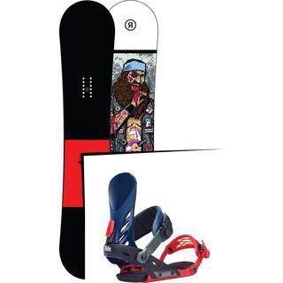 Set: Ride Crook Wide 2017 + Ride EX, multi - Snowboardset