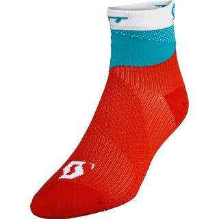 Scott Womens RC Pro Socken, hibiscus red/ocean blue - Radsocken