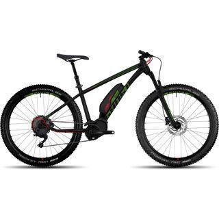 Ghost Hybride Kato 6 AL 27.5 Plus 2017, black/green/red - E-Bike