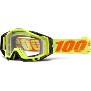 100% Racecraft, attack yellow/Lens: clear - MX Brille