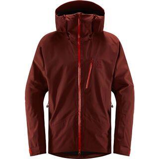 Haglöfs Niva Jacket Men, maroon red/habanero - Skijacke