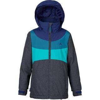 Burton Girls Hart Jacket, denim/spellbound/jaded/everglade - Snowboardjacke
