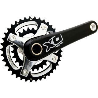 SRAM X0 Kurbel - GXP, 2x10, 39/26 Z, schwarz