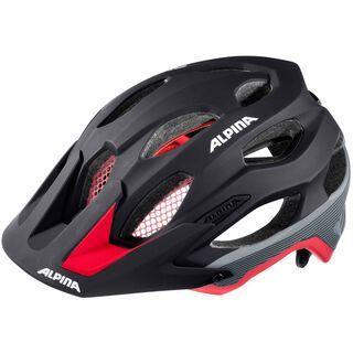 Alpina Carapax, black red darksilver - Fahrradhelm