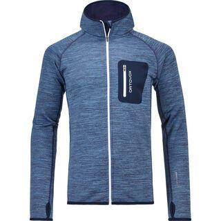 Ortovox Merino Fleece Melange Hoody M, night blue blend - Fleecehoody