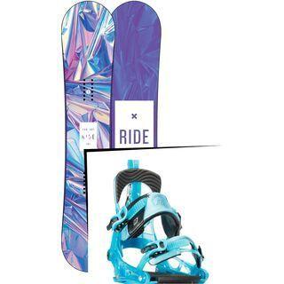Set: Ride Compact 2017 + K2 Cinch Tryst 2016, blue - Snowboardset