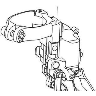 Shimano Umwerfer-Adapter XTR für FD-M9050/9070 (Di2) - High-Clamp