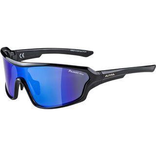 Alpina Lyron Shield P, black/Lens: polarized mirror blue - Sportbrille