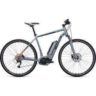 Cube Cross Hybrid ONE 400 2017, grey´n´orange - E-Bike