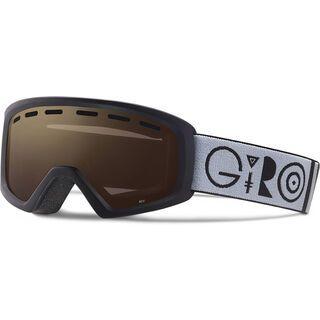 Giro Rev, white aqua beaded/Lens: amber pink - Skibrille