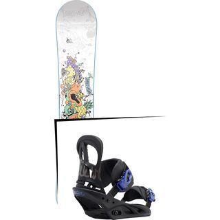 Set: Nitro Pro One Off Ana Rumiha 2017 + Burton Scribe 2017, black/lavender - Snowboardset