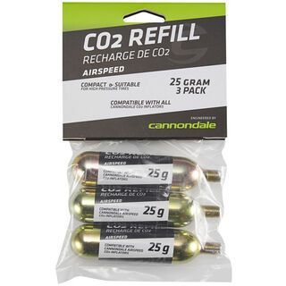 Cannondale CO2 Cartridge 25 g, 3er Pack - CO2 Kartusche