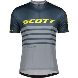 Scott RC Team 20 S/Sl Men's Shirt, nightfall blue/lemongrass yellow - Radtrikot