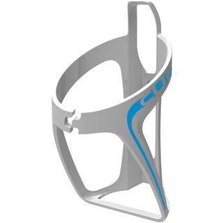 Cube Flaschenhalter HPP, glänzend weiß/blau - Flaschenhalter